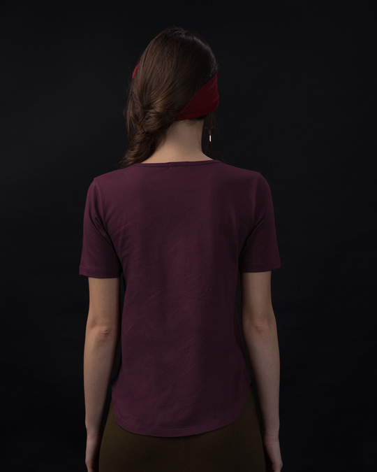 Shop Bad Day Basic Round Hem T-Shirt-Back