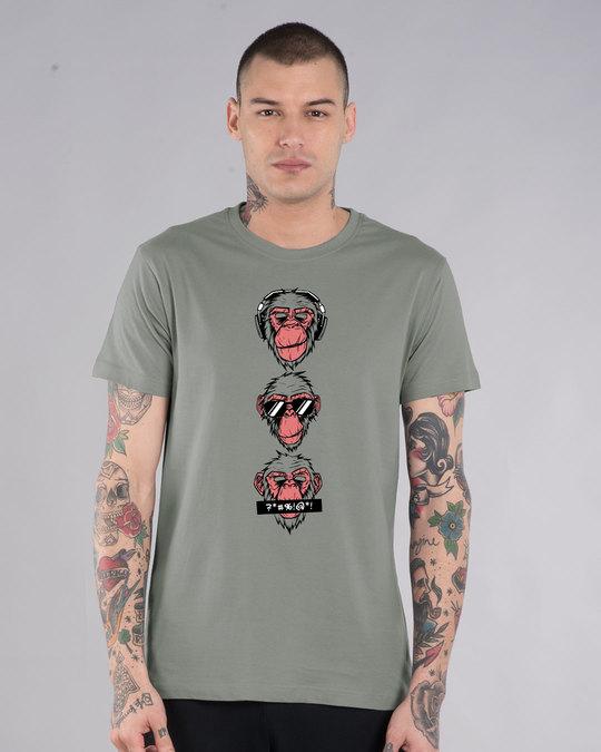 Shop Bad Monkeys Half Sleeve T-Shirt-Back
