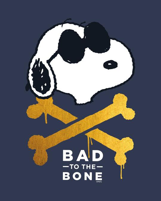 Shop Bad To The Bone Half Sleeve T-Shirt-Full
