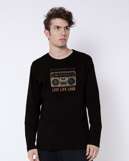Shop Band Baja Box Full Sleeve T-Shirt-Front