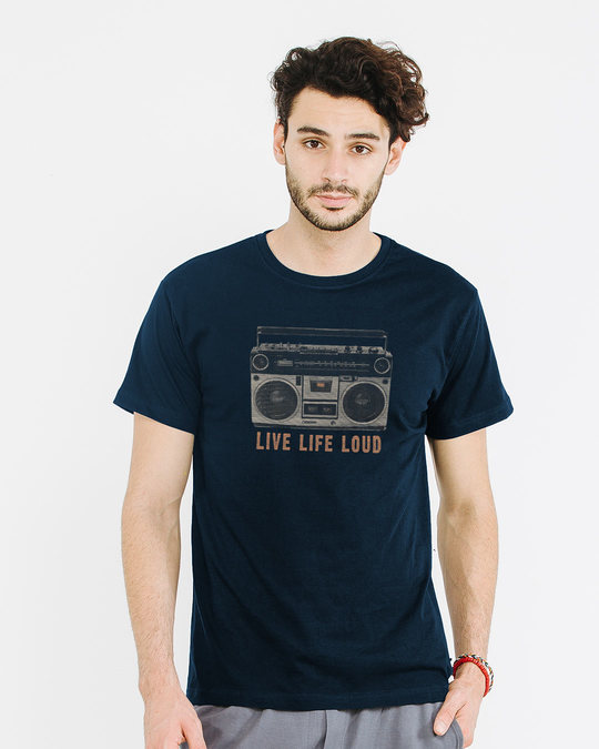 Shop Band Baja Box Half Sleeve T-Shirt-Back