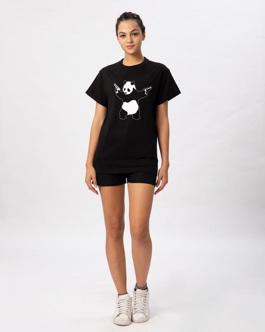 Shop Banksy Panda Boyfriend T-Shirt