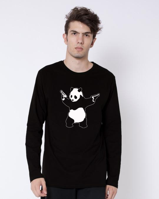 Shop Banksy Panda Full Sleeve T-Shirt-Front