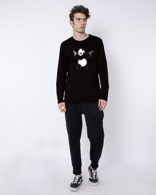 Shop Banksy Panda Full Sleeve T-Shirt