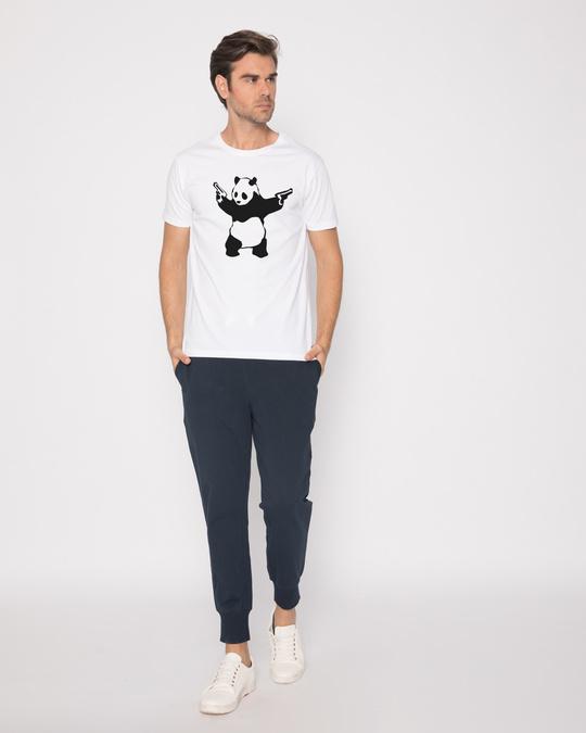 Shop Banksy Panda Half Sleeve T-Shirt