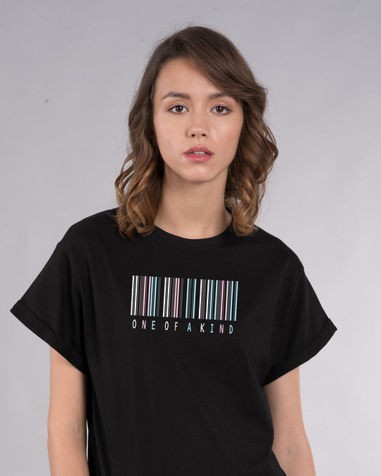 Shop Barcode One Of A Kind Boyfriend T-Shirt-Front