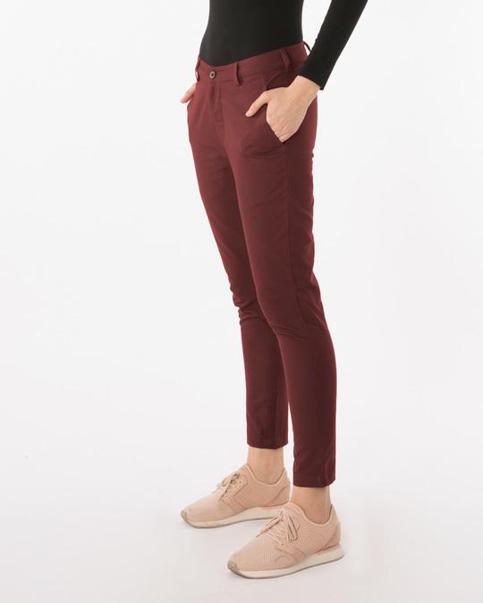 Shop Barn Red Lightweight Slim Oxford Pants-Back