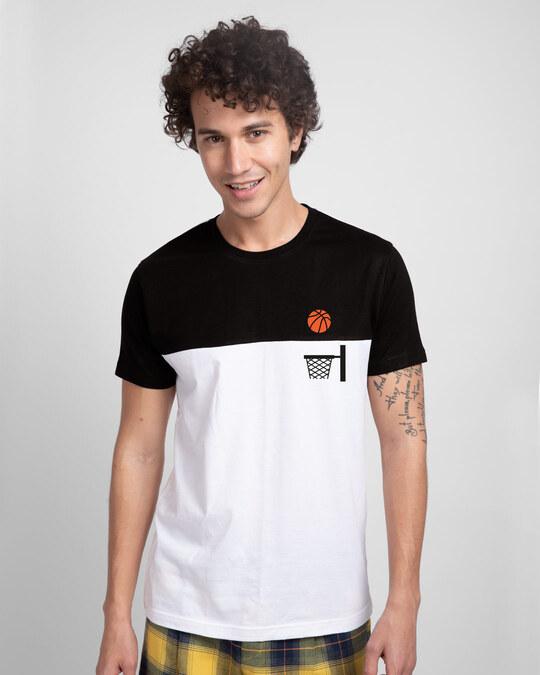 Shop Basket Ball Pocket Color Block T-Shirt-Front