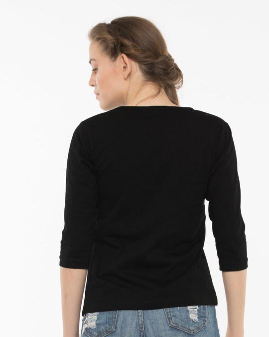 Shop Basuya Round Neck 3/4th Sleeve T-Shirt-Full