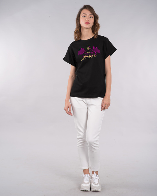 Shop Bat Girl Boyfriend T-Shirt (BML)-Full