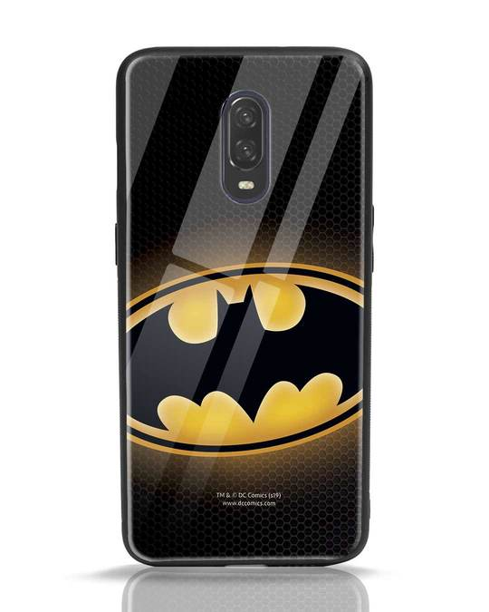 Shop Bat Logo OnePlus 6T Glass Mobile Cover (BML)-Front
