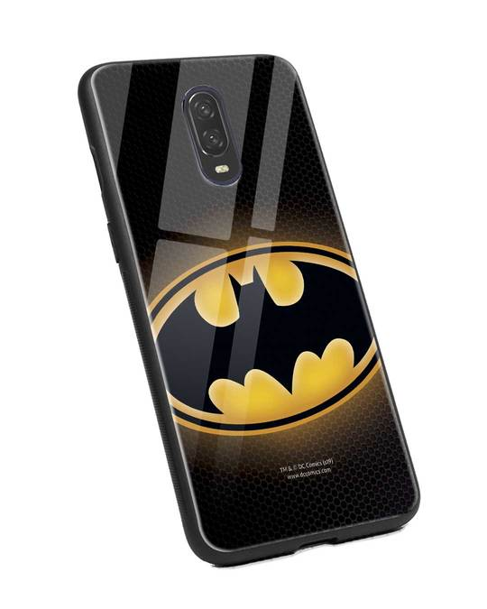Shop Bat Logo OnePlus 6T Glass Mobile Cover (BML)-Back