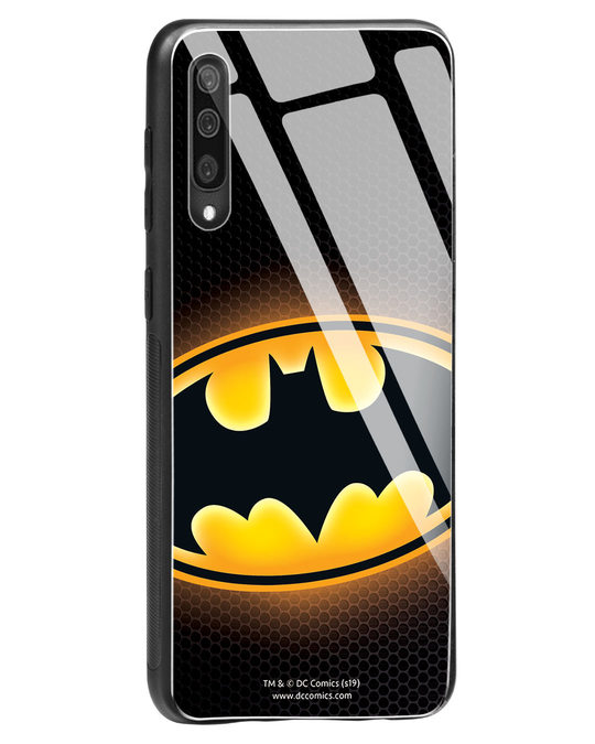 Shop Bat Logo Samsung Galaxy A50 Glass Mobile Cover (BML)-Back