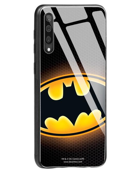 Shop Bat Logo Samsung Galaxy A50 Glass Mobile Cover (BML)-Back