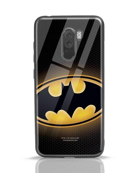 Shop Bat Logo Xiaomi POCO F1 Glass Mobile Cover (BML)-Front