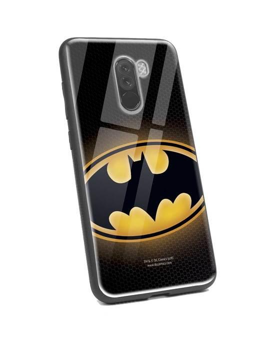 Shop Bat Logo Xiaomi POCO F1 Glass Mobile Cover (BML)-Back