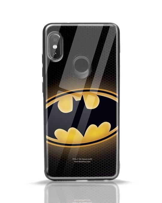 Shop Bat Logo Xiaomi Redmi Note 5 Pro Glass Mobile Cover (BML)-Front