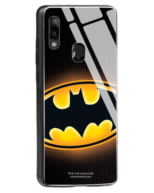 Shop Bat Logo Xiaomi Redmi Note 7 Glass Mobile Cover (BML)-Back