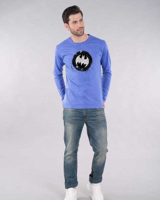 Shop Batman Applique Full Sleeve T-Shirt (BML)-Design