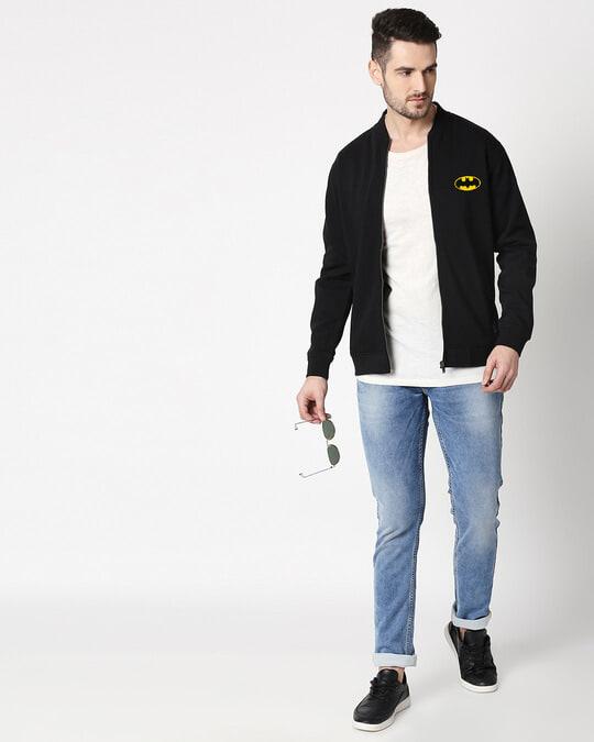 Shop Batman Badge Bomber Jacket-Full