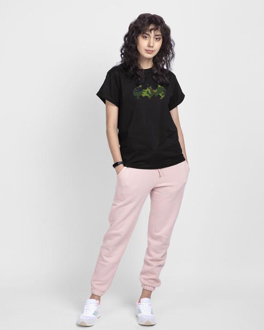 Shop Batman Camo Boyfriend T-Shirt (BML) Black-Design