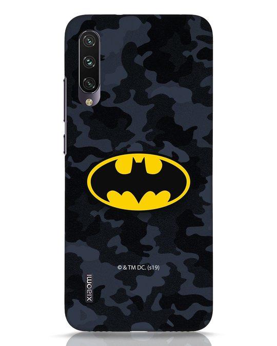 Shop Batman Camo Logo Xiaomi Mi A3 Mobile Cover (BML)-Front