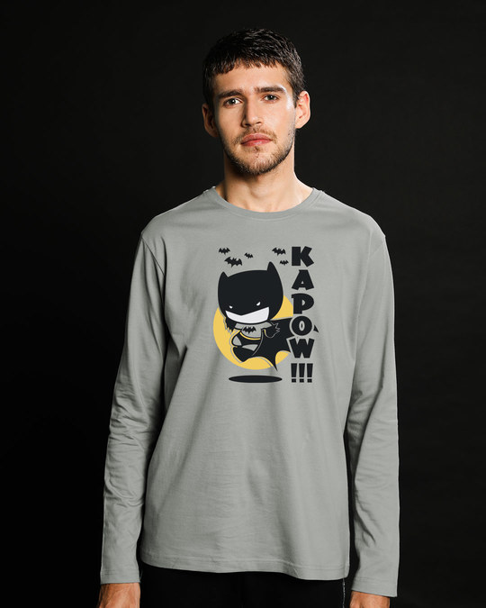 Shop Batman Chibi Full Sleeve T-Shirt (BML)-Front
