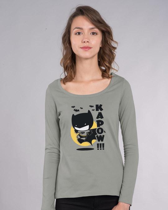 Shop Batman Chibi Scoop Neck Full Sleeve T-Shirt (BML)-Front
