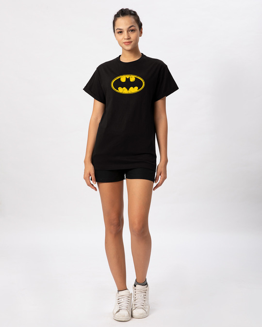 Shop Batman Classic Logo Boyfriend T-Shirt (BML)-Full