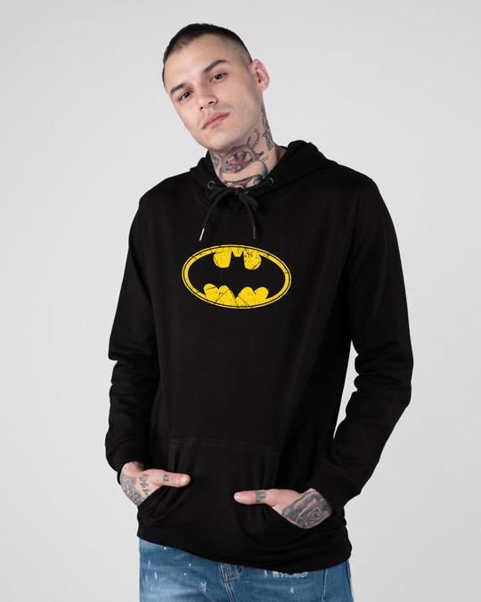 Shop Batman Classic Logo Fleece Hoodie (BML)-Front