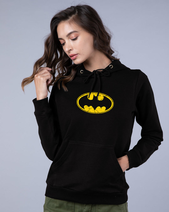 Shop Batman Classic Logo Fleece Hoodie (BML)-Front