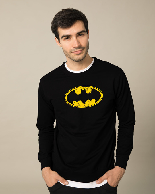 Shop Batman Classic Logo Fleece Light Sweatshirt (BML)-Front