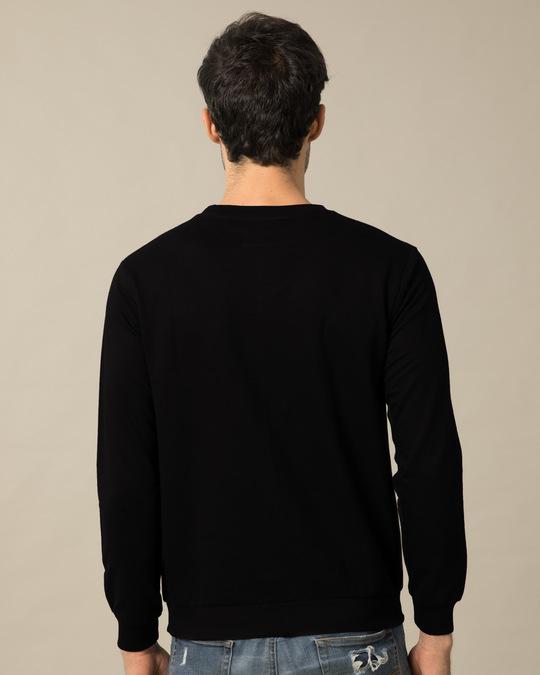 Shop Batman Classic Logo Fleece Light Sweatshirt (BML)-Back