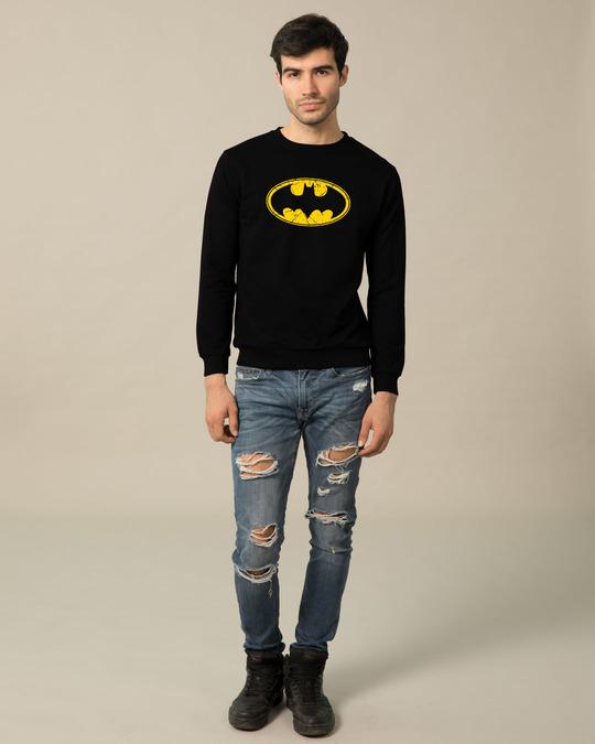 Shop Batman Classic Logo Fleece Light Sweatshirt (BML)-Design