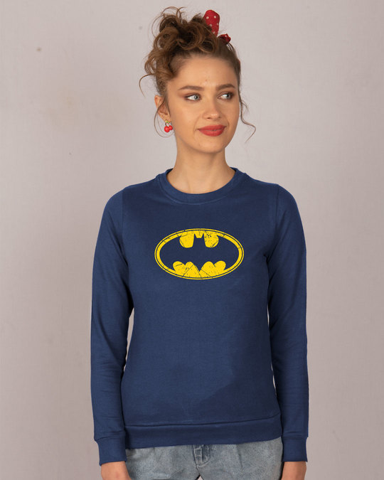 Shop Batman Classic Logo Fleece Sweater (BML)-Front
