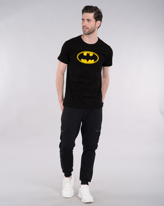 Shop Batman Classic Logo Half Sleeve T-Shirt (BML)-Design