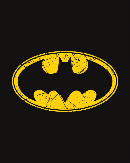 Shop Batman Classic Logo Half Sleeve T-Shirt (BML)-Full