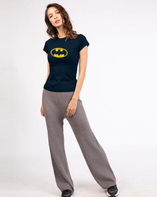 Shop Batman Classic Logo Half Sleeve T-Shirt (BML)-Full