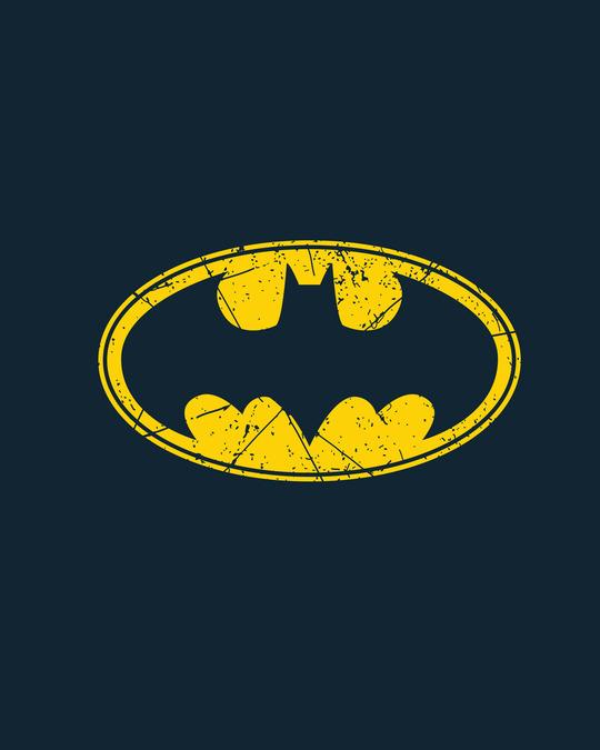 Shop Batman Classic Logo Half Sleeve T-Shirt (BML)