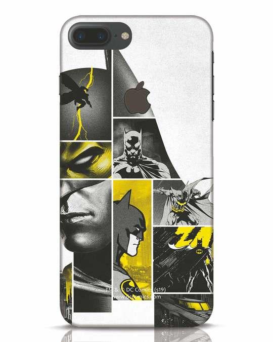 Shop Batman Collage iPhone 7 Plus Logo Cut Mobile Cover-Front
