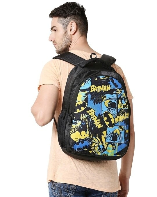 Shop Batman Colorful Printed Poster 23 Litre Backpack-Full