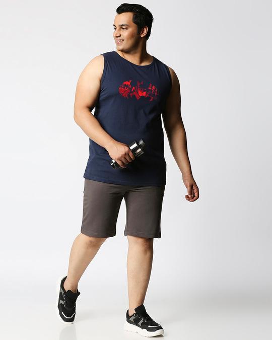 Shop Batman Comic Grunge (BML) Plus Size Round Neck Vest-Design