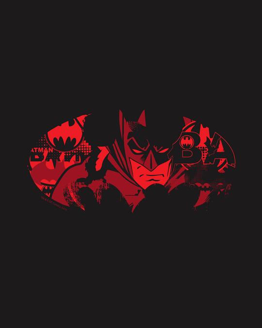 Shop Batman Comic Grunge Half Sleeve T-Shirt Black (BML)