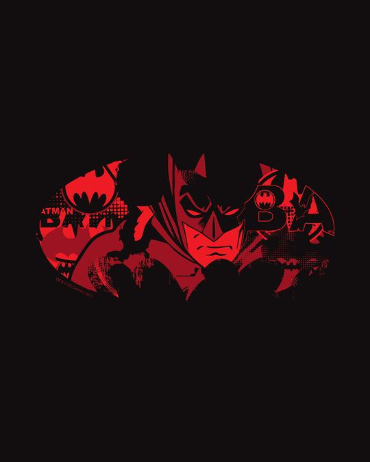 Shop Batman Comic Grunge Round Neck Vest Black (BML)