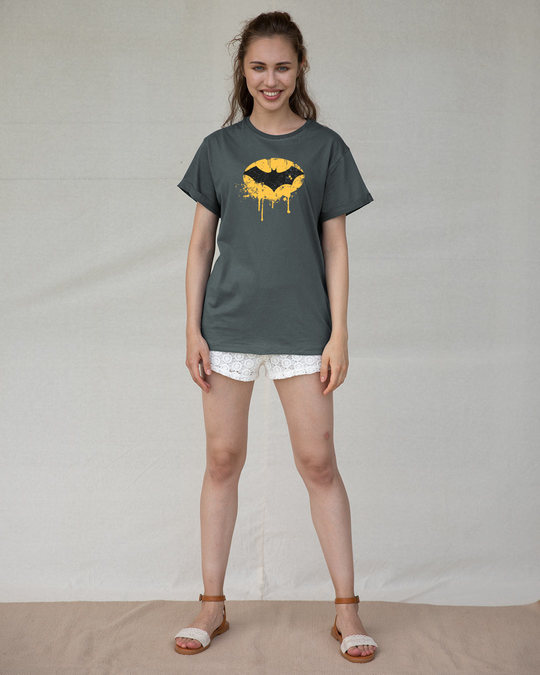 Shop Batman Dripping Boyfriend T-Shirt (BML)-Full