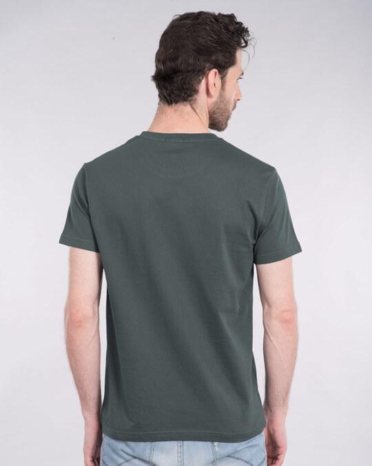 Shop Batman Eyes Logo Half Sleeve T-Shirt (BL)-Design