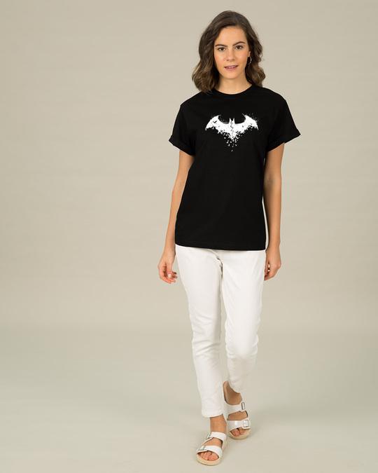 Shop Batman Intense Logo Glow In Dark Boyfriend T-Shirt (BML) -Design