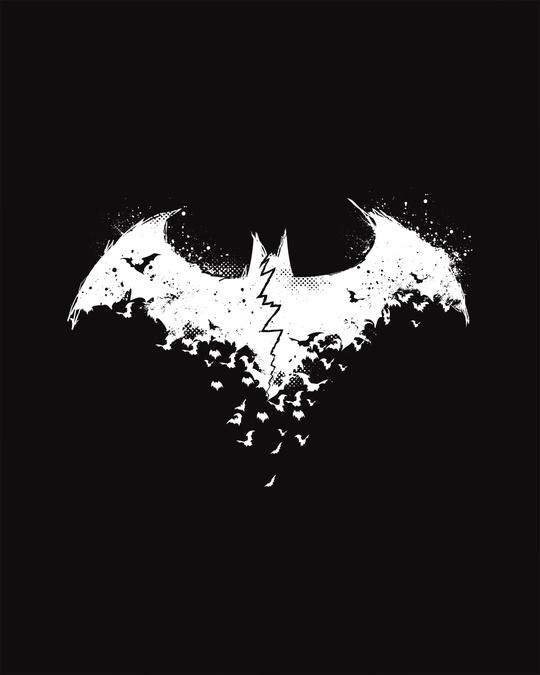 Shop Batman Intense Logo Full Sleeve T-Shirt (BML) (GID)