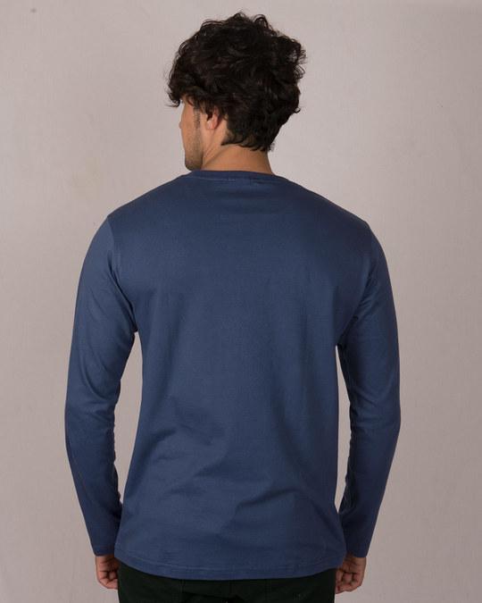 Shop Batman Intense Logo Glow In Dark Full Sleeve T-Shirt (BML) -Back