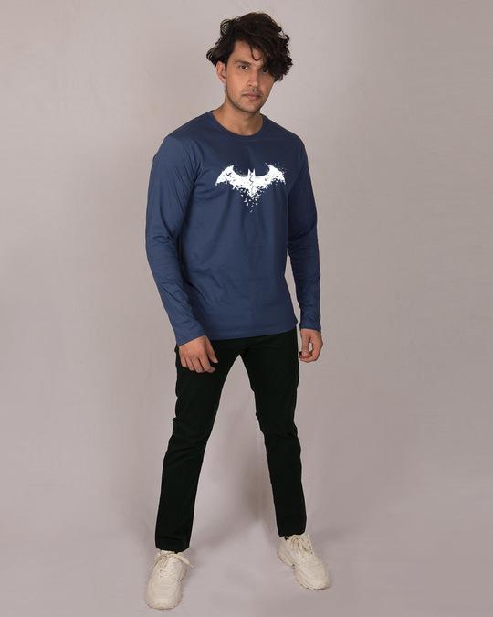 Shop Batman Intense Logo Glow In Dark Full Sleeve T-Shirt (BML) -Design